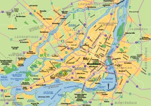 Map of Montréal