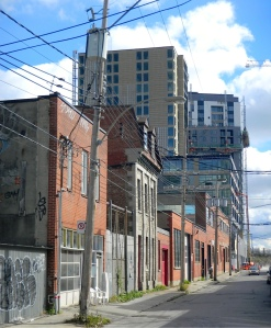 Young Street, Griffintown, redevelopment.  Photo courtesy of Dave Flavell, 2014